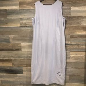 Marshall's lined linen (55) dress 22W NWT